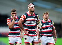 Lachlan McCaffrey of Leicester Tigers looks on during a break in play. Aviva Premiership match, between Leicester Tigers and Worcester Warriors on October 8, 2016 at Welford Road in Leicester, England. Photo by: Patrick Khachfe / JMP
