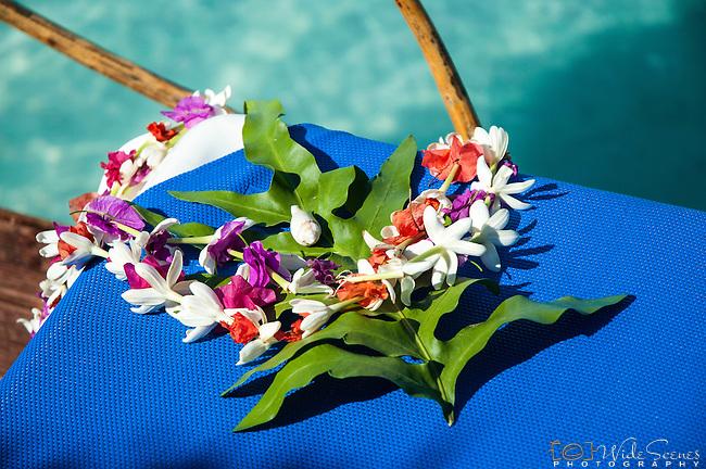 Floral lei, Aitutaki, Cook Islands