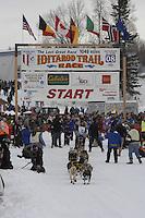 Hans Gatt Willow restart Iditarod 2008.