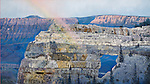 "Angel's Rainbow in Arizona's Grand Canyon National Park. Oil on canvas, 20"" x 36""."