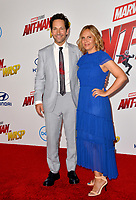 Paul Rudd &amp; Julie Yaeger at the premiere for &quot;Ant-Man and the Wasp&quot; at the El Capitan Theatre, Los Angeles, USA 25 June 2018<br /> Picture: Paul Smith/Featureflash/SilverHub 0208 004 5359 sales@silverhubmedia.com