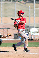 Josh Fellhauer - Cincinnati Reds 2010 minor league spring training..Photo by:  Bill Mitchell/Four Seam Images.