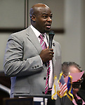 Nevada Sen. Kelvin Atkinson, D-North Las Vegas, speaks on the Senate floor at the Legislative Building, in Carson City, Nev., on Friday, May 31, 2013. <br /> Photo by Cathleen Allison