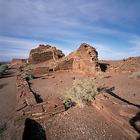 Wupatki Pueblo in Wupatki National Monument, near Flagstaff, Arizona, USA - Ancestral Puebloan / Anasazi House, Dwelling Ruins