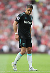 West Ham's Javier Hernandez looks on dejected during the premier league match at Old Trafford Stadium, Manchester. Picture date 13th August 2017. Picture credit should read: David Klein/Sportimage
