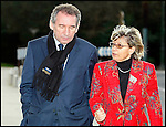 François Bayrou Président du Mouvement Démocrate MODEM avec Josy Poueyto une de ses 2 co-listières pour les élections municipales 2008 de Pau / 64 Pyrénées Atlantiques / Rég. Aquitaine / François Bayrou former president of the MODEM french party / France