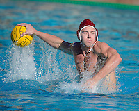 STANFORD, CA - NOVEMBER 23, 2013: Stanford Men's Water Polo faces Cal in a match contested at Avery Aquatic Center on the campus of Stanford University.  Stanford won, 10-9.