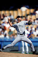 Paul Abbott of the Seattle Mariners during a game against the Los Angeles Dodgers at Dodger Stadium circa 1999 in Los Angeles, California. (Larry Goren/Four Seam Images)