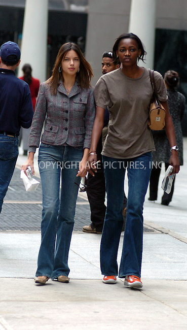 WWW.ACEPIXS.COM ** ** **EXCLUSIVE!!! FEE MUST BE NEGOTIATED BEFORE USE!!!***....NEW YORK, APRIL 7, 2005....Gorgeous Victoria's Secret models Adriana Lima and Oluchi Ongweaba are seen enjoying a gorgeous spring day in midtown.....Please byline: Philip Vaughan -- ACE PICTURES... *** ***  ..Ace Pictures, Inc:  ..Craig Ashby (212) 243-8787..e-mail: picturedesk@acepixs.com..web: http://www.acepixs.com