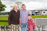 Aidan O'Connor Snr , Aidan O'Connor and Tim O'Donovan from Lixnaw enjoying the The North Kerry Harriers Point to Point in Ballybeggan Racecourse on Saturday