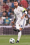 Sergio Ramos of Real Madrid in action during their 2016-17 UEFA Champions League match between Real Madrid vs Sporting Portugal at the Santiago Bernabeu Stadium on 14 September 2016 in Madrid, Spain. Photo by Diego Gonzalez Souto / Power Sport Images