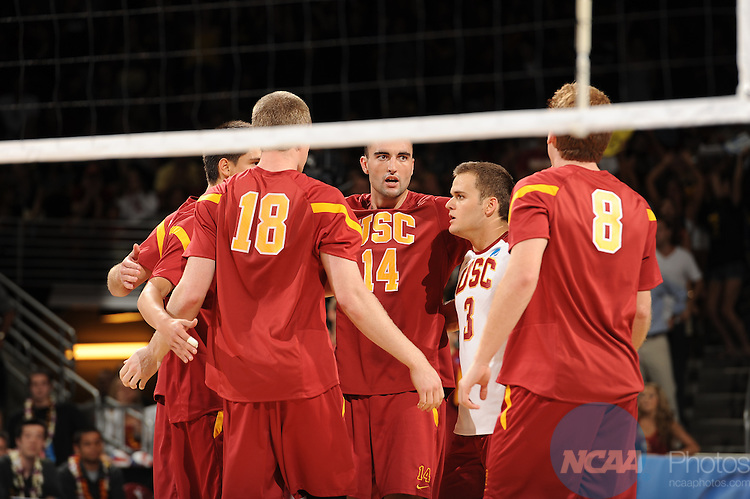 05 MAY 2012:  UC Irvine takes on the University of Southern California in the Division I Men's VolleyballChampionship held at the Galen Center on the USC campus in Los Angeles, CA.  UCI defeated USC 3-0 to win the national title.  Matt Brown/NCAA Photos