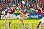Kerry's Declan O'Sullivan and Galway's Garreth Bradshaw.