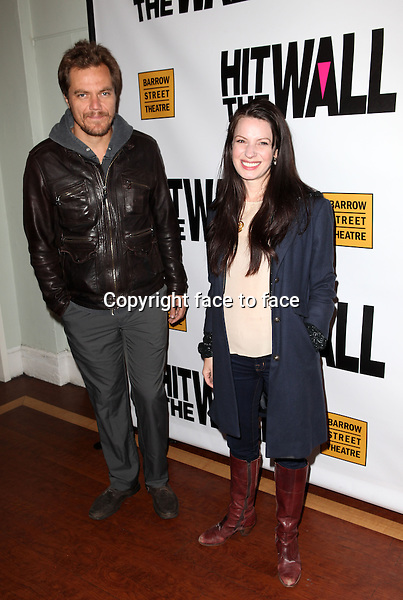 "Michael Shannon & Kate Arrington attending the New York Premiere of the Opening Night Performance of ""Hit The Wall"" at the Barrow Street Theatre in New York City on 3/10/2013...Credit: McBride/face to face"