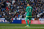 Real Madrid´s Keylor Navas during 2015/16 La Liga match between Real Madrid and Atletico de Madrid at Santiago Bernabeu stadium in Madrid, Spain. February 27, 2016. (ALTERPHOTOS/Victor Blanco)