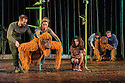 London, UK. 18.05.2016. Regent's Park Open Air Theatre presents RUNNING WILD, by Michael Morpurgo, in an adapttion by Samuel Adamson. the production is directed by Timothy Sheader and Dale Rooks, design is by Paul wills and lighting design by Paul Anderson. Picture shows: The Orangutans and Ava Potter (as Lilly). Photograph © Jane Hobson.