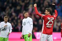 Fussball  1. Bundesliga  Saison 2016/2017  14. Spieltag  FC Bayern Muenchen - VfL Wolfsburg    10.12.2016 Torjubel: Thomas Mueller (FC Bayern Muenchen)