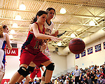 Both girls and boys basketball action between the Country Day Cajuns and St. Martin's Saints played in the Lupin Gymnasium.