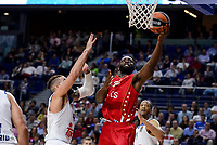 Real Madrid's Jeffery Taylor and Crvena Zvezda Mts Belgrade's Charles Jenkins during Turkish Airlines Euroleague match between Real Madrid and Crvena Zvezda Mts Belgrade at Wizink Center in Madrid, Spain. March 10, 2017. (ALTERPHOTOS/BorjaB.Hojas) /NortePhoto.com