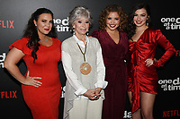 "07 February 2019 - Los Angeles, California - GLORIA CALDERON KELLETT, RITA MORENO, JUSTINA MACHADO and ISABELLA GOMEZ. Netflix's ""One Day at a Time"" Season 3 Premiere and Global Launch held at Regal Cinemas L.A. LIVE 14. Photo Credit: Billy Bennight/AdMedia"