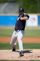 New York Yankees starting pitcher Matt Sauer (63) during a Minor League Spring Training game against the Toronto Blue Jays on March 18, 2018 at the Englebert Complex in Dunedin, Florida.  (Mike Janes/Four Seam Images)