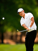 Golfer Anthony Kim plays the course during the Quail Hollow Championship 2009 Pro-Am in Charlotte, North Carolina. The Pro-Am is held as part of the professional championship, formerly called the Wachovia Championship, which is a top event on the PGA Tour, attracting such popular golf icons as Tiger Woods, Vijay Singh and Bubba Watson.