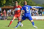 18.07.2018, Voehlinstadion, Illertissen, GER, FSP, FV Illertissen - VfB Stuttgart, im Bild Borna Sosa (Stuttgart, #24), Max Zeller (Illertissen, #2)<br /> <br /> Foto &copy; nordphoto / Hafner