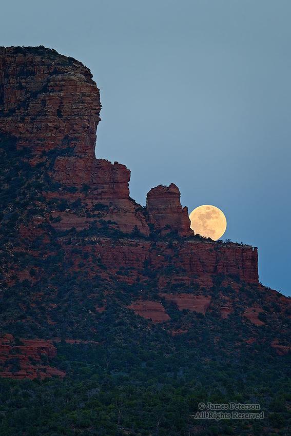 Moonrise over Jacks Canyon, near Sedona, Arizona