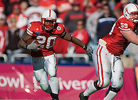 01 January 2007: Nebraska back Marlon Lucky (#20) runs with the ball during the 2007 AT&T Cotton Bowl Classic between The University of Auburn and The University of Nebraska at The Cotton Bowl in Dallas, TX.