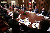 United States President Donald J. Trump speaks during a luncheon with the Permanent Representatives of the United Nations Security Council in the Cabinet Room of the White House on December 5, 2019 in Washington, DC.<br /> Credit: Oliver Contreras / Pool via CNP