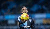 Paris Cowan-Hall of Wycombe Wanderers expression sums up his teams afternoon during the Sky Bet League 2 match between Wycombe Wanderers and Leyton Orient at Adams Park, High Wycombe, England on 23 January 2016. Photo by Andy Rowland / PRiME Media Images.