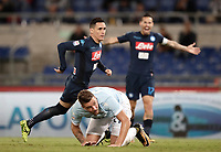 Calcio, Serie A: Roma, stadio Olimpico, 20 settembre 2017.<br /> Napoli's Jos&eacute; Maria Callejon (l) celebrates after scoring during the Italian Serie A football match between Lazio and Napoli at Rome's Olympic stadium, September 20, 2017.<br /> UPDATE IMAGES PRESS/Isabella Bonotto