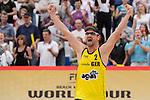 31.05.2015, Moskau, Vodny Stadion<br /> Moskau Grand Slam, Main Draw / Spiel Platz 3/4<br /> <br /> Jubel Kay Matysik (#2 GER)<br /> <br />   Foto &copy; nordphoto / Kurth