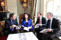 NO REPRO FEE. 20/5/2011. Irish Council for Civil Liberties- Tell UN of Irelands failure to combat inhuman and degrading treatment. Pictured at a press Briefing in Buswells Hotel, Dublin are L-R Mark Kelly, Director, Irish Council for Civil Liberties, Tanya Ward Deputy Director, Irish Council for Civil Liberties John Stanly, Irish Refugee Council and Liam Herrick, Irish Penal Reform Trust. Picture James Horan/Collins Photos