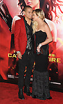 Evan Ross and Ashlee Simpson arriving to 'The Hunger Game Catching Fire Premiere', Los Angeles, Ca. November 18, 2013.
