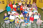 Children's Art : Children from the Finuge area attending the Children's art class with Lisa Fingleton during the Sean McCarthy Festival in Finuge on Saturday morning.  ..