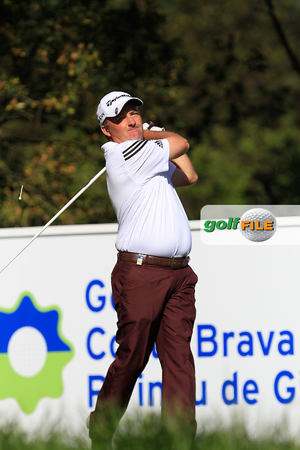 Damien McGrane (IRL) on the 14th tee during Thursday's Round 1 of The Open De Espana at The PGA Catalunya Resort. 15th May 2014.<br /> Picture:  Thos Caffrey / www.golffile.ie