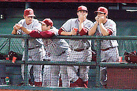 PULLMAN, WA-April 1, 2011:  Stanford players Justin Ringo, Dave Giuliani, Eric Smith and Danny Diekroeger in a game against Washington State University in Pullman, Washington.  Stanford lost the game 10-8.