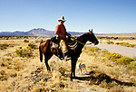 Utah: Cowboy who is driving cattle along the Pony Express Trail, photo: utpony103  .Photo copyright Lee Foster, www.fostertravel.com, 510/549-2202, lee@fostertravel.com