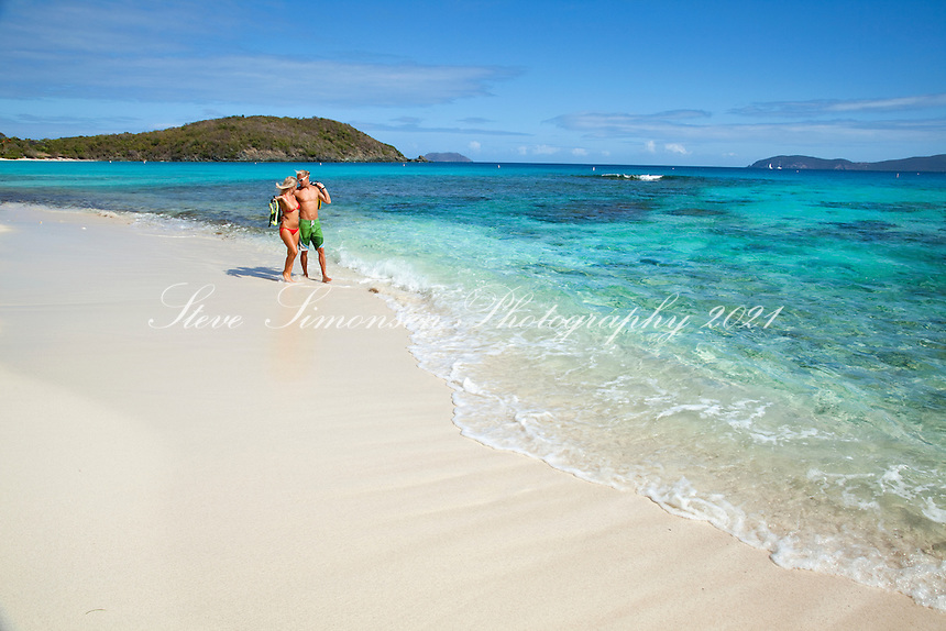 Amy and Forrest Hall<br /> Hawksnest Beach <br /> Virgin Islands National Park<br /> St. John, U.S. Virgin Islands