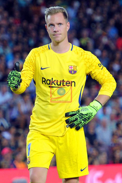 52e Trofeu Joan Gamper.<br /> FC Barcelona vs Chapecoense: 5-0.<br /> Marc Andre Ter Stegen.