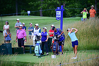 Danielle Kang (USA) watches her tee shot on 16 during Saturday's round 3 of the 2017 KPMG Women's PGA Championship, at Olympia Fields Country Club, Olympia Fields, Illinois. 7/1/2017.<br /> Picture: Golffile | Ken Murray<br /> <br /> <br /> All photo usage must carry mandatory copyright credit (&copy; Golffile | Ken Murray)
