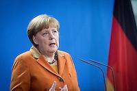Bundeskanzlerin Angela Merkel (CDU) nimmt am Mittwoch (18.01.17) in Berlin zusammen mit den italienischen Ministerpr&auml;sidenten an einer Pressekonferenz teil.<br /> Foto: Axel Schmidt/CommonLens
