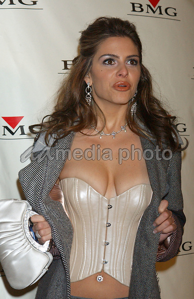 Feb. 8, 2004; Hollywood, CA, USA; Reporter MARIA MENOUNOS during the BMG 46th Annual Grammy Awards Post-Grammy Gala Celebration held at The Avalon. Mandatory Credit: Photo by Laura Farr/AdMedia. (©) Copyright 2003 by Laura Farr