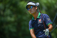 Kevin Na (USA) watches his tee shot on 9 during round 3 of the Fort Worth Invitational, The Colonial, at Fort Worth, Texas, USA. 5/26/2018.<br /> Picture: Golffile | Ken Murray<br /> <br /> All photo usage must carry mandatory copyright credit (&copy; Golffile | Ken Murray)