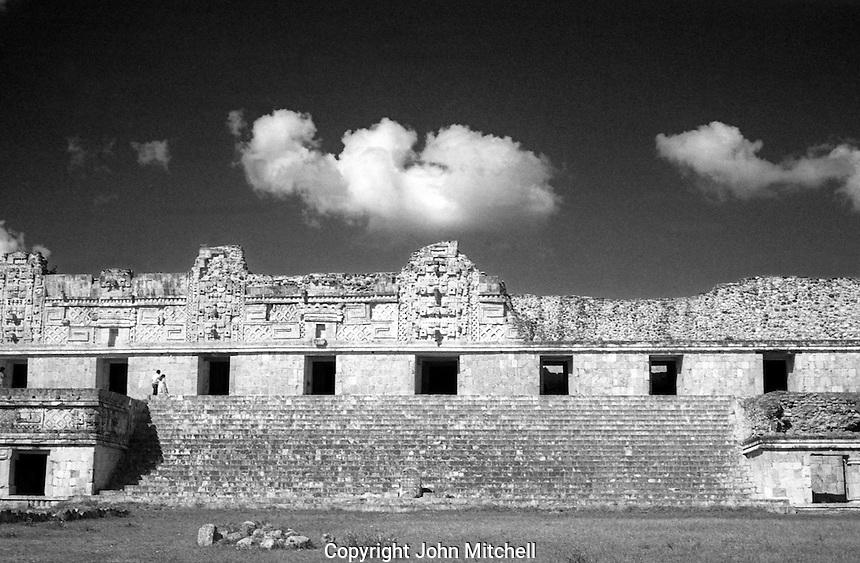The Nunnery at the Mayan ruins of Uxmal, Yucatan, Mexico
