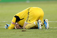 A dejected Jimmy Nielsen goalkeeper Sporting KC at the final whistle... Sporting Kansas City were defeated 1-2 by Seattle Sounders at LIVESTRONG Sporting Park, Kansas City, Kansas.