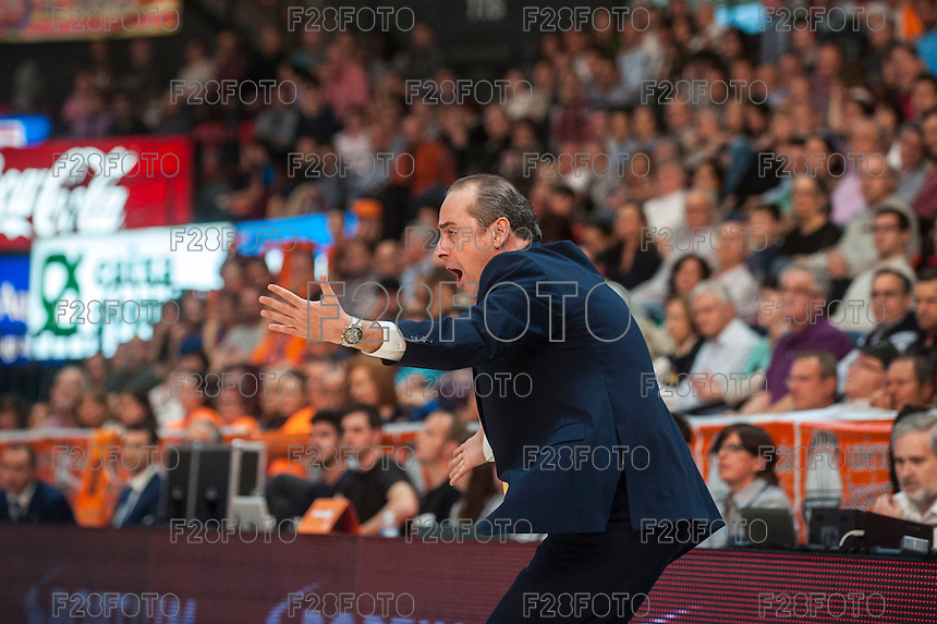 VALENCIA, SPAIN - APRIL 24: Txus Vidorreta during ENDESA LEAGUE match between Valencia Basket Club and Iberostar Gran Canaria at Fonteta Stadium on April, 2016 in Valencia, Spain