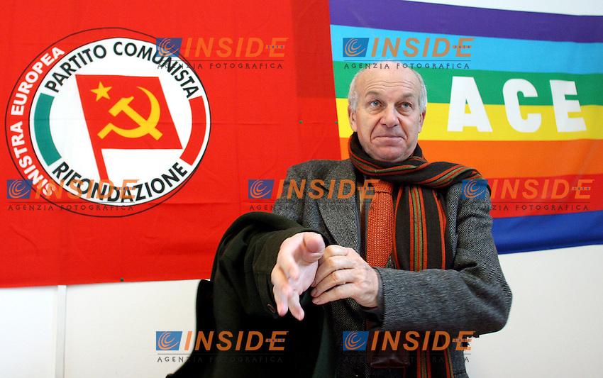 Roma 20/01/2006 Direzione Nazionale di Rifondazione Comunista<br />Nella foto il segretario nazionale di Rifondazione Comunista Fausto Bertinotti<br />Photo Serena Cremaschi Insidefoto