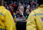 A Crystal Palace fan ponders the 5-0 loss during the premier league match at the Etihad Stadium, Manchester. Picture date 22nd September 2017. Picture credit should read: Simon Bellis/Sportimage